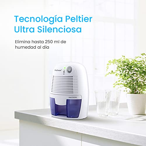 Pro Breeze Mini Deshumidificador 500ml Eléctrico,...