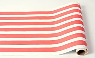 Hester and Cook Striped Table Runner - Red Paper Table Runner for Parties or Weddings - American Made
