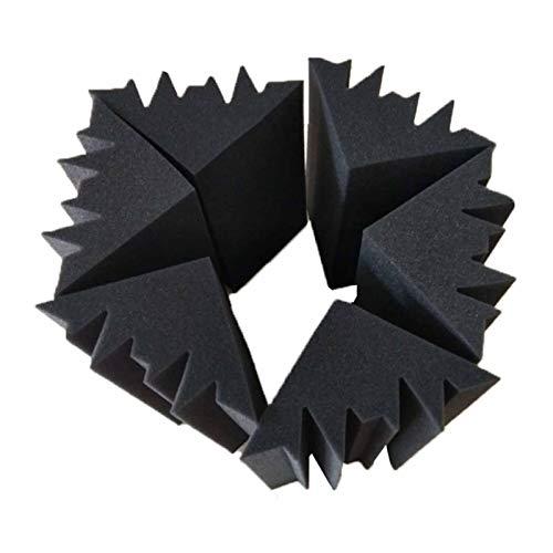 IINSSDJ Paquete De 8 Trampas Acústicas para Graves con Aislamiento Acústico para Cines En Casa, Cines Profesionales, Azulejos De Espuma De Estudio (Color : Black)