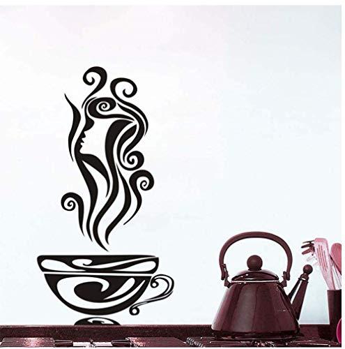 Kaffee Blume Silhouette Vinyl Aufkleber Für Küche Restaurant Modern Home Decor Wasserdichte Tapete Esszimmer Wandkunst Aufkleber 31 Cm X 29 Cm