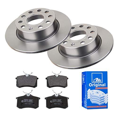 2 Bremsscheiben Ø253 Voll + Bremsbeläge ATE Hinten P-A-02-00450 Bremsanlage