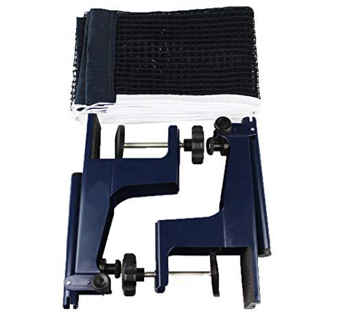 Professionelles Tischtennisnetz, spielspezifische Halterung, Tischtennis-Zubehör, Halterung zum Einschrauben, Metallklemmen mit 175 cm Masche, passend für 2–8 cm dicke Tische.