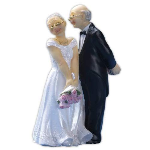 Cake Company Tortendekoration älteres Brautpaar | Tortendeko zur Goldhocheit