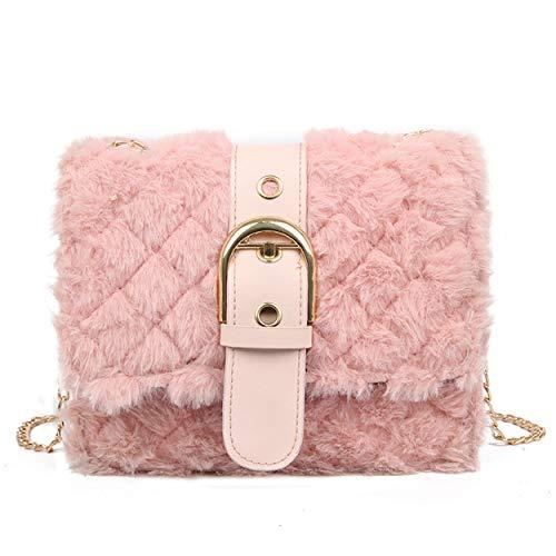 cool nik, borsetta da donna in finta pelliccia, pochette per telefono e portafoglio, da sera, Rosa (A Pink), Taglia unica
