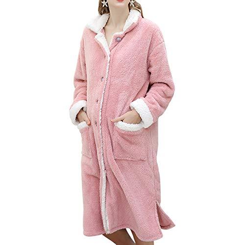 clothing Pyjamas Femmes Enceintes, vêtements de Maison Automne et Hiver Robe de Velours de Coton, Grossesse Allaitement Allaitement Allaitement Chaud Peignoir