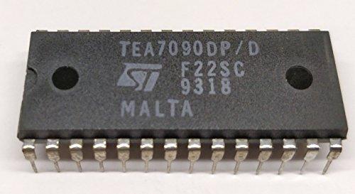 2 Stück TEA7090DP   ONE CHIP TELEPHONE SET   with ANALOG SPEECH + LOUD + RINGER + DTMF Generator (uP-Controlled)   STMicroelectronics   DIP28 Gehäuse