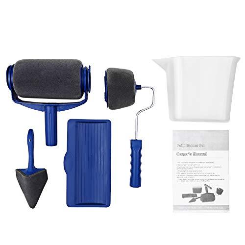 ZCFXGHH El Kit de Cepillo de Rodillo de Pintura de 5 Piezas Incluye Cepillo de Rodillo para Pintar bordeador Cortador de Esquina Bandeja de Pintor Jarra de plástico para Pintar la casa