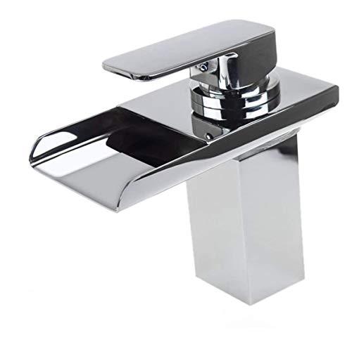 LED Wasserfall Waschbecken Hahn-Badezimmer-Hoch-Bassin-Mischer-Hahn mit Farbwechsel LED-Licht