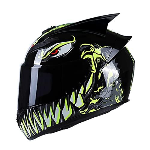 Casco moto integrale moto casco integrale modulare bluetooth casco moto integrato con occhiali certificazione DOT/ECE è adatto per ciclomotori da bicicletta cruiser G,M