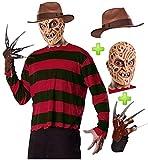 Disfraz de Freddy Krueger con gorro