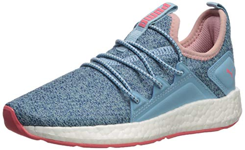 PUMA Kids' NRGY Neko Sneaker, Milky Blue-Bluestone-Calypso Coral White, 10.5 M US Little Kid