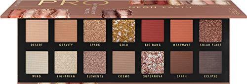 Catrice Pro Neon Earth Slim Eyeshadow Palette, Lidschatten, Nr. 010 Elements Of Power, mehrfarbig, langanhaltend, schimmernd, metallisch, matt, intensiv, glitzernd, ohne Parfüm (10,6g)