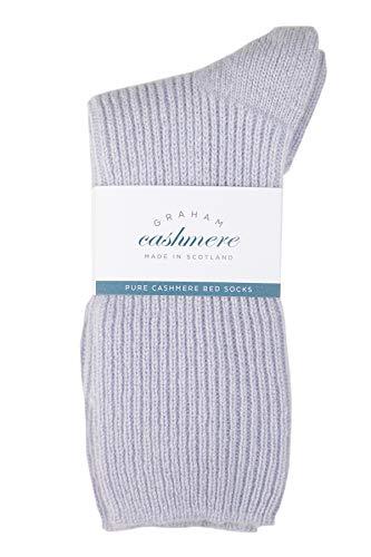 Graham Cashmere - Calcetines de cama de cachemira pura - Fabricado en Escocia - En caja de regalo