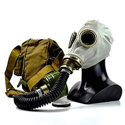 NKST Group Vintage Genuine Soviet Russian Gas mask GP-5 Post-Apocalyptic Cosplay Costume (Large) Grey