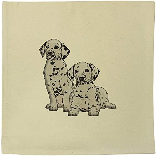 Azeeda 40cm x 40cm 'Dalmation Puppies' Canvas Cushion Cover (CV00020752)