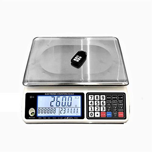 ZCY ES1008 Digitale elektronische weegschaal, roestvrijstalen balans, prijstellen, platformweegschaal, commercieel voedsel vlees gewicht winkelframe, tafelweegschaal, vloerweegschaal
