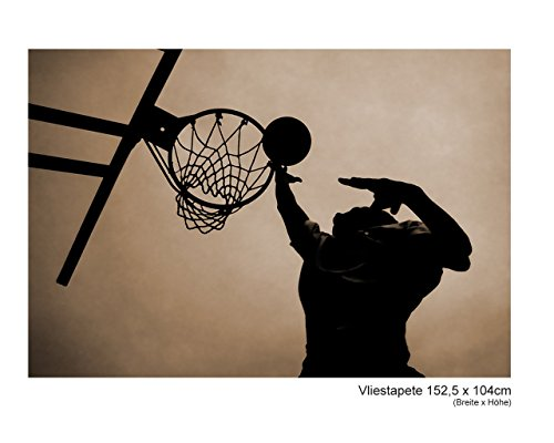Fototapete–Papel pintado papel pintado Baloncesto Deporte nba América futbolistas Athlet–cuadro decorativo Modern xxl Tren No. 41, multicolor, 152,5x104cm