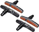 Alphatrail V-Brake Bremsbeläge I 2 Paar 72mm I Innovative ABS Technologie I Langlebiger Bremsbelag & 100% Passgenau für V-Brakes von Shimano, Tektro, Avid, SRAM, XLC UVM