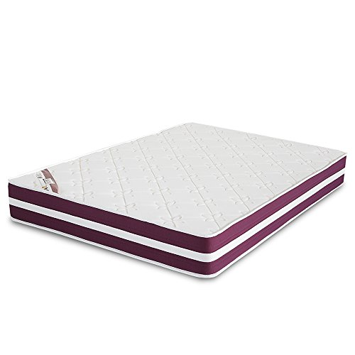 El Almacen del Colchon - Colchón viscoelastico Modelo Confort Life, 90 x 190 x 24cm - Todas Las Medidas, Blanco y Rojo