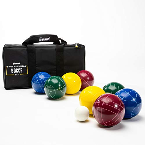 Franklin Sports Bocce Set - 8 All Weather Bocce Balls and 1 Pallino - Beach, Backyard, or Outdoor Party Game - Family Fun for All Ages - Starter Set (50110)