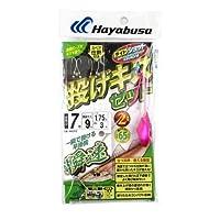 ハヤブサ(Hayabusa) ライトショット 投げキスセット 立つ天秤 瞬速2本鈎 HA312 7号 9-1.75-3