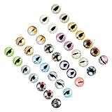 HEALLILY Gemas de Cabujón de Cristal para Dragón Muñeca Ojo Diseño de Ojos Malvados de Mosaico para Joyería Pulseras 20mm 100Pcs