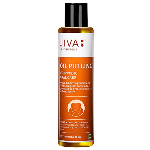 Jiva Oil Pulling – Ayurvedic Oral Care – Oral Care for Teeth and Gums – 200 ml – Pack of 1