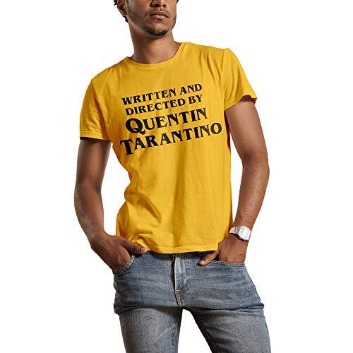 Mush T-Shirt Uomo Titolo di Coda regia Quentin Tarantino - Film - Pulp Fiction - 100% Cotone Organico