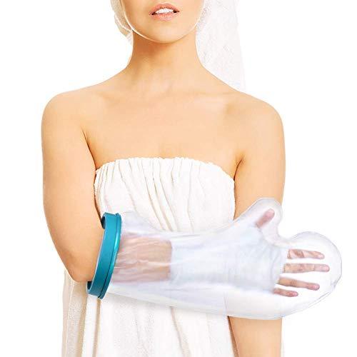 Wasserdichter Armschutz für Erwachsener Arm beim Dusche, Wunde Wasserdichter Gipsschutz Wasserdicht für Arm, Handgelenk, Fingerwunde und hält die Armpflaster und Bandagen Trocken, Passt Unisex