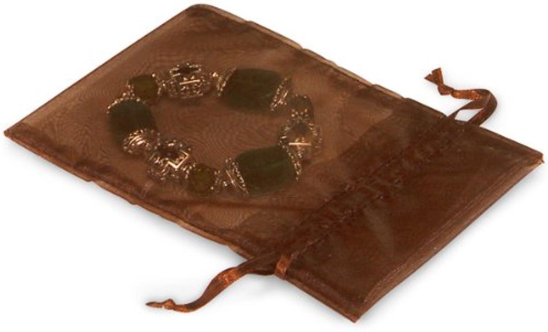 Schokolade Organza Taschen Taschen Taschen 10,2 x 15,2 cm mit Satin drawstrings10 Pack B00K4V0EW4      Fuxin  69cf01