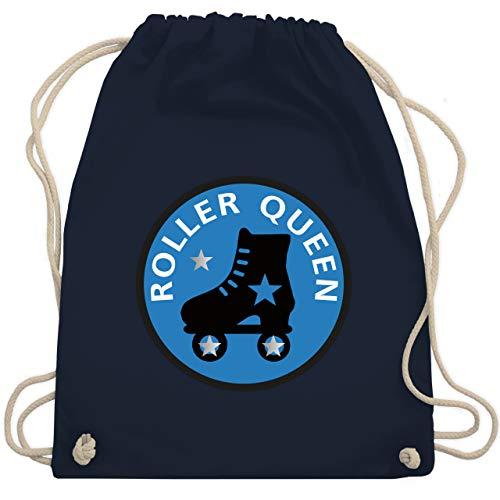 Shirtracer Vintage - Roller Queen Rollschuh - Unisize - Navy Blau - rollschuhe rucksack - WM110 - Turnbeutel und Stoffbeutel aus Baumwolle