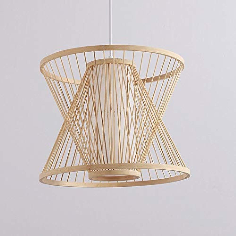 OOFAY LIGHT Modern Minimalistische Kreativ Design Runde Pendelleuchte Bambus 1 flammig Hngeleuchte Hngelampe Esszimmer Küche Flur Loft Hngelampe Decken Beleuchtung Leuchte Rus
