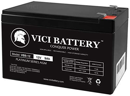 VICI Battery 12V 9Ah Battery Replacement for CyberPower CPS500SL, 525SL Brand Product