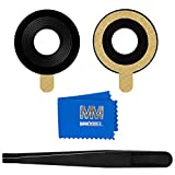 MMOBIEL Vitre lentille pour caméra arrière Compatible avec iPhone 7 / iPhone 8 avec pincette et Chiffon