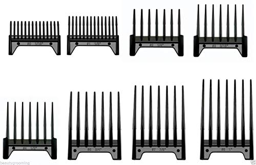 Oster 8 Piece Universal Clipper Guide Attachment Combs Set Fast Feed 76926-800
