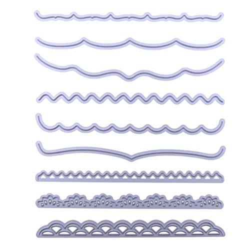 HEALLILY Troqueles de Corte de Encaje Plantillas de Estampado de Papel Moldes de Aleación de Scrapbooking Troquelados para Álbum Artesanal Fabricación de Tarjetas de Bricolaje