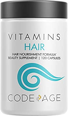 Codeage Hair Loss Thinning Supplement + DHT Blocker Pills - Hair Growth Vitamins Formula with Biotin, Collagen for Men and Women - Extra Strength Keratin Supplements - Non-GMO - 120 Capsules