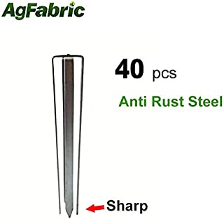 Agfabric Landscape Unique Design Garden Landscape Staples Stakes Pins for Weed Barrier Fabric-40Pack