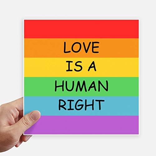 DIYthinker Gay Lesbische Regenboog Vlag Lgbt Vierkant Stickers 20Cm Muur koffer Laptop Motobike Decal 4 Stks