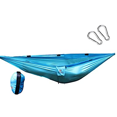 High Hopes Hammock Camping Hammock (Double Sized) Aqua and Blue