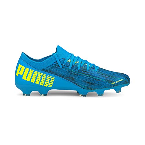 Puma Ultra 3.2 FG/AG JR, Zapatillas de fútbol, Nrgy Blue Yellow Alerta, 37.5 EU