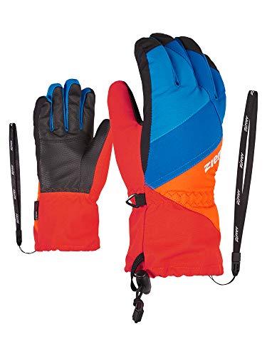 Ziener Kinder Agil As(r) Ski-Handschuhe/Wintersport | Wasserdicht, Atmungsaktiv, New red.Bright orange, 5,5