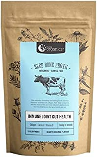 Organic Powdered Homestyle Beef Bone Broth- Immune Joint Gut Health - Packed with Vitamins D, B, and Amino Acids to support gut health and immunity - Gluten Free, Paleo and Keto friendly - 3.52 oz