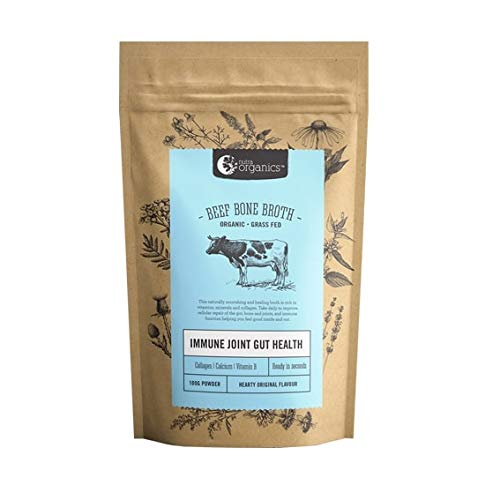 Organic Beef Bone Broth Powder Homestlye - 48 Hour Slow Cooked For Max Nutrients & 100% Grass-Fed Beef - Helps Reduce Inflammation, Packed With Collagen, Supports Immune Health - Bone Broth