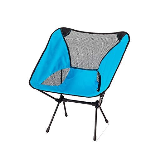 WJP Tabouret Pliant de pêche portative extérieure, ménage de Chaise Portable (Bleu)