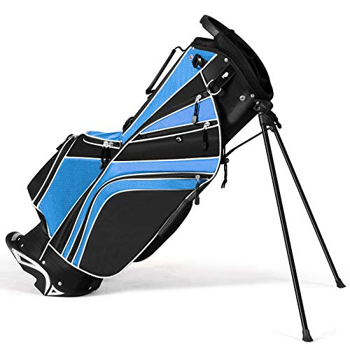 Tangkula Golf Stand Bag w/6 Way Divider...