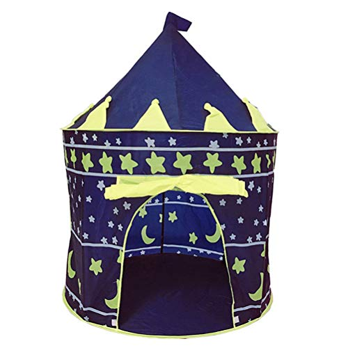 KUANDARMX sécurité Kids Play Tent Girls Toys Princess Castle Play Tent Kids Playhouse with Star Lights Gift for Children Indoor & Outdoor Games Doux, A