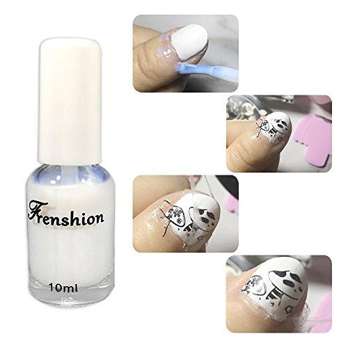 Frenshion 10ML Peel Off Liquid Latex Nagel Rand Flüssigkeit Base Coat Hautschutz Haut Barriere Protector Nail Art Ausrüstung Perfekt für Maniküre und Pediküre