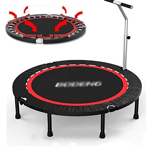 Trampoline Fold 50 Inch Geschikt voor Volwassene/kind Gym Motion Mini Bouncing Bed Draagbaar Stabiel Verstelbare Armsteun
