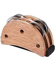 Abarich カホン,楕円形カホンボックスドラムコンパニオンアクセサリーフットジングルタンバリンハンドパーカッション楽器ブラック